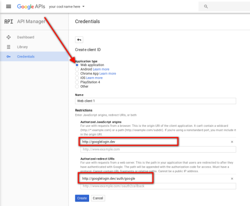 Google app oauth login app 7